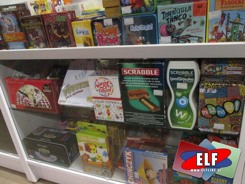 Gry, Gra, Scrabble, MiSzMaSz!, Chińczyk, Warcaby Magiczne, Gry Magnetyczne, MegaStar, Sabotażysta, Przybij Piątkę, Kotostrofa, Czarne historie i inne ...
