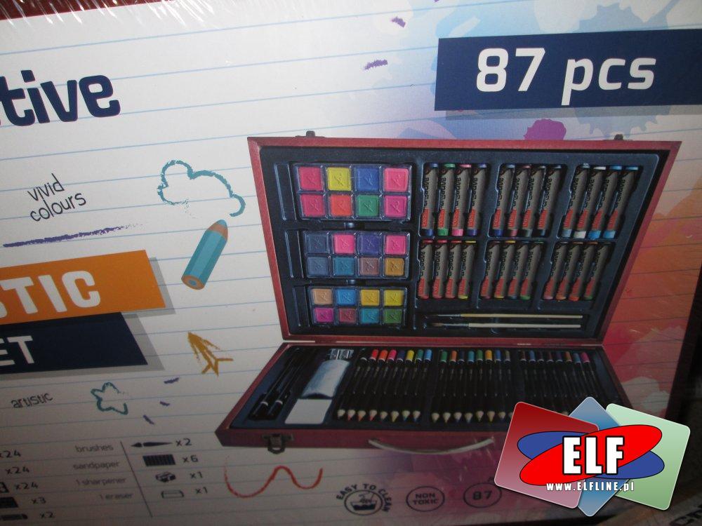 Artist Set, Zestaw artystyczny, Pastele olejne, Mini markery, Kredki, Farbki wodne i inne elementy zestawu, Zestawy artystyczne