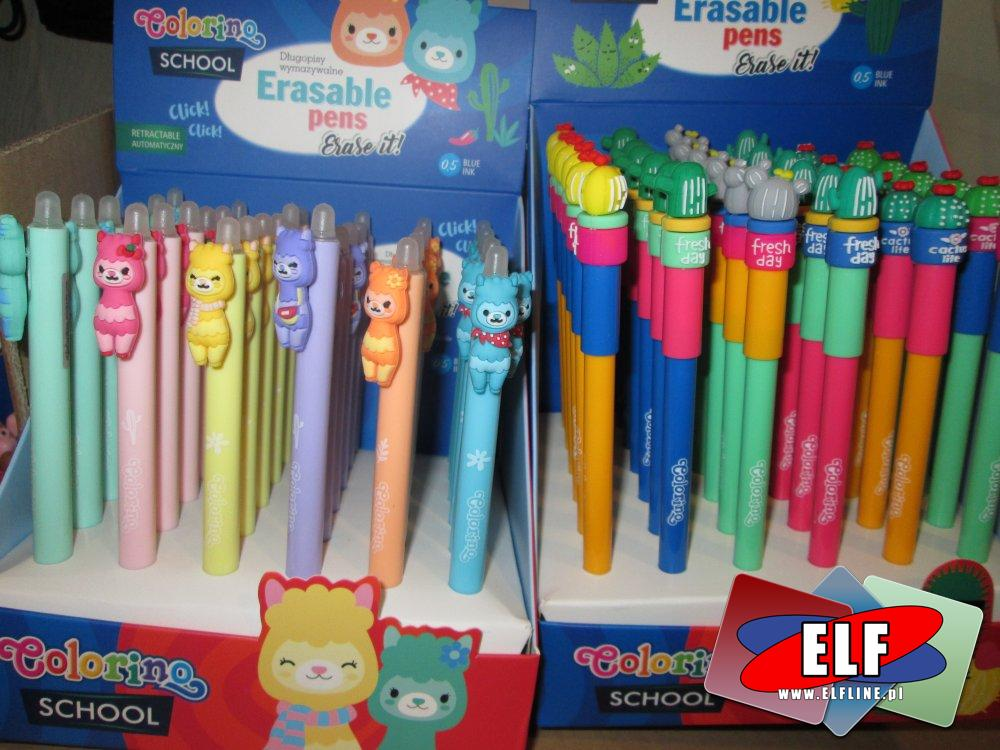 Erasable Pens, Colorino, Długopisy wymazywane, Długopis wymazywany, różne kształty