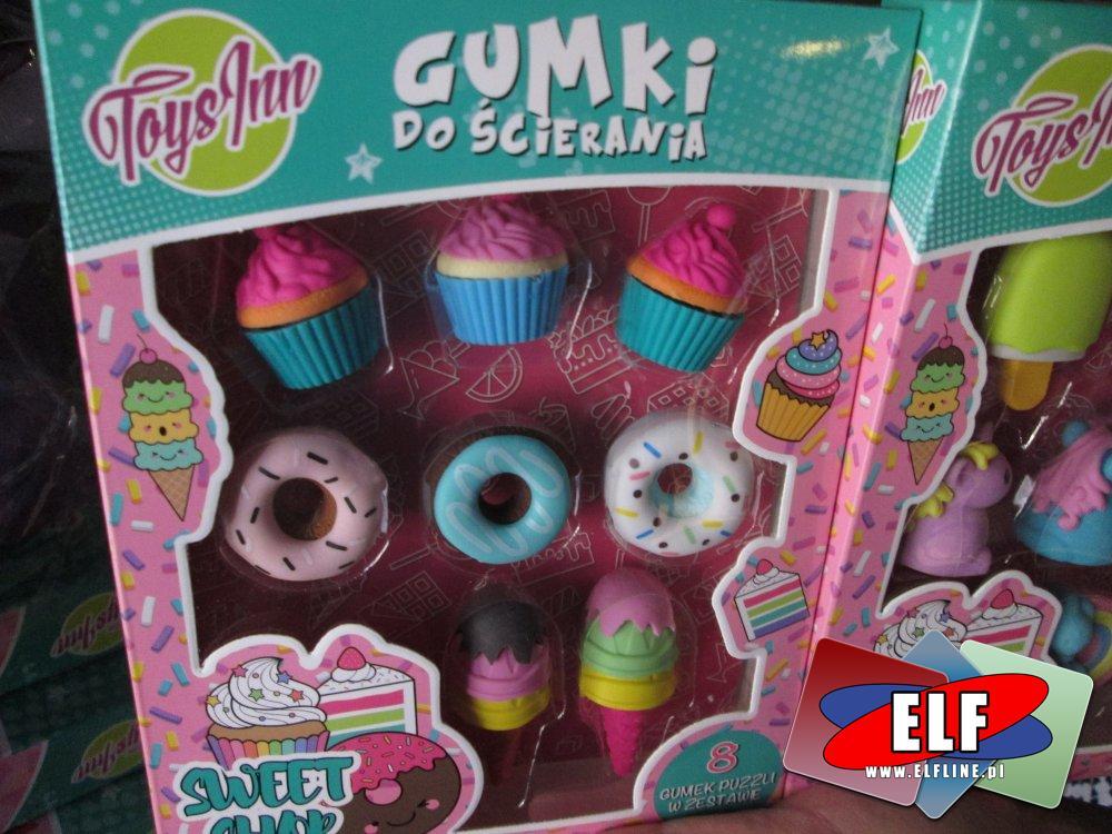 Gumki do ścierania, Toysinn, W kształcie słodyczy i innych wzorów, Gumka