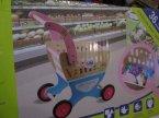 Zabawki drewniane, Wózek sklepowy z drewna, zabawa w sklep, zakupy, dom, zabawka