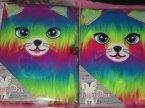 Pamiętnik A5 na kłódkę, kolorowy kotek, pamiętniki Pamiętnik A5 na kłódkę, kolorowy kotek, pamiętniki