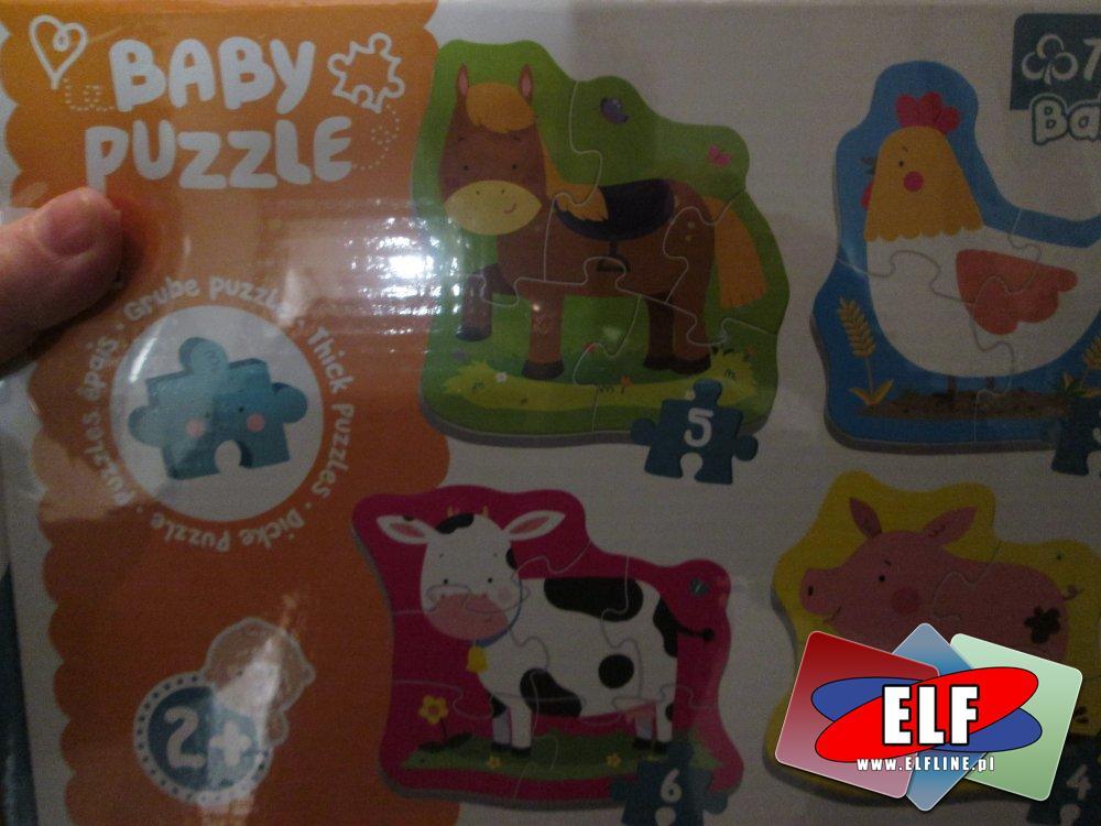 Puzzle drewniane, dla dzieci
