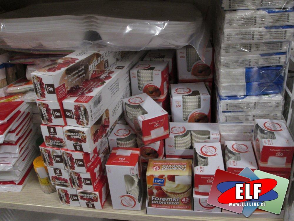 Foremki papierowe, Foremka papierowa do pieczenia babeczek, Papier śniadaniowy, Folia aluminiowa i inne akcesoria gastronomiczne
