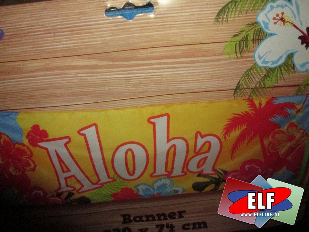 Banner Aloha i inne, bannery, imprezowe
