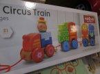 Zabawki drewniane, Circis Train, Pociąg, Ciuchcia z drewna, Drewniane pociągi zabawki klocki