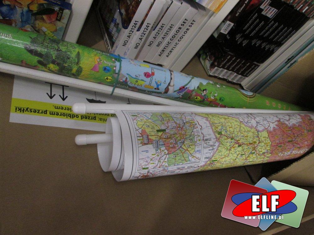 Mapa, Mapy, Polski, Świata, Europy i inne Mapy ścienne