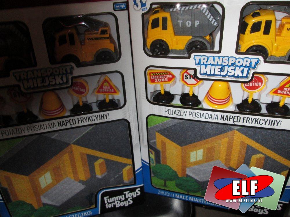Zabawki, Transport miejski, samochodziki i znaki drogowe
