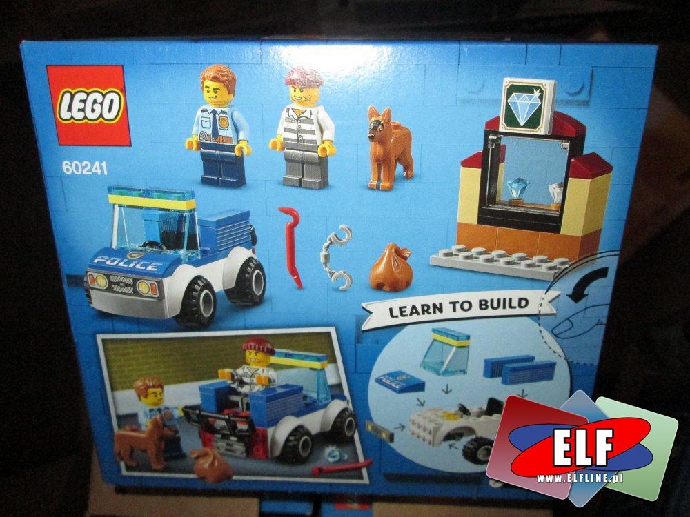 Lego City, 60241 Oddział policyjny z psem, 60255 Ekipa kaskaderów, klocki