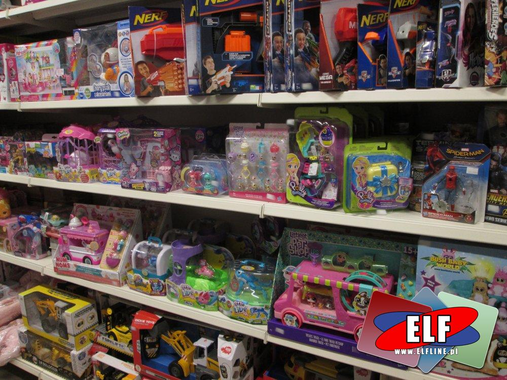 Pistolety Nerf, Littlest Pet Shop, Bush Baby World, Shopkins i inne zabawki