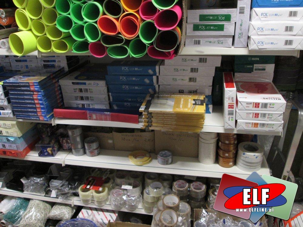 Papier Xero, Tektura falista, Bibuła karbowana, Papiery wszelkiego rodzaju, Taśmy klejące i inne akcesoria biurowe i papiernicze