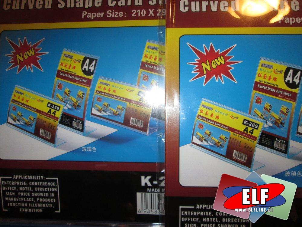 Stojak na karty o zakrzywionym kształcie, Curved Shape Card Stand