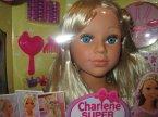 Charlene Super, Głowa do czesania, stylizacji i makijażu, fryzjerska, zabawka, zabawki