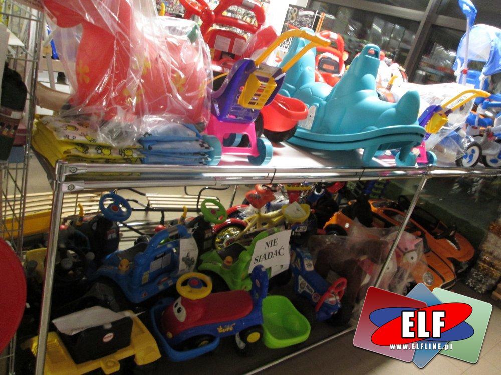 Rowerki, Pchacze, Ciągacze, Samochody, Motorki i inne zabawki