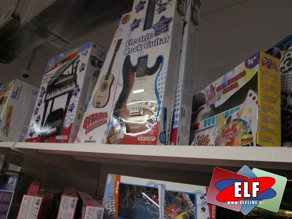 Instrumenty muzyczne, Gitara, Pianinko Trąbki, flety i inne zabawki muzyczne