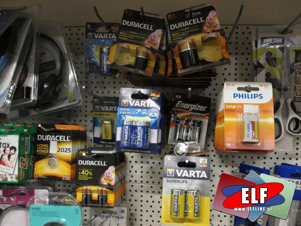 Baterie wszelkiego rodzaju, Bateria, AA, AAA, AAAA, C, D i inne