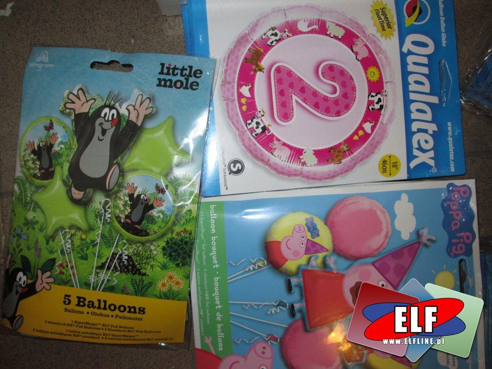 Balony, Urodzinowe i na inne okazje, balon do pompowania helem i powietrzem, imprezowe baloniki