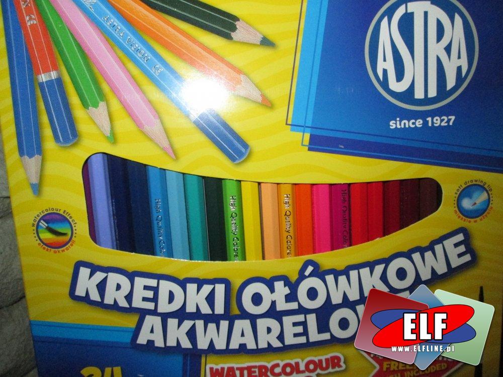 Astra Kredki ołówkowe akwarelowe, kredka