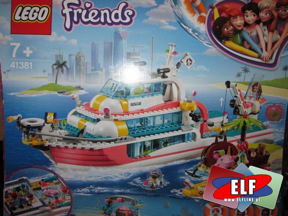 Lego Friends, 41381 Łódź Ratunkowa, klocki