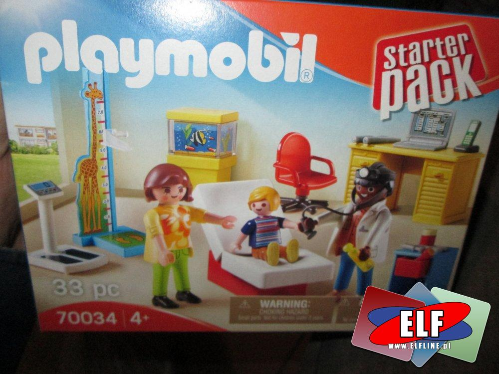 Playmobil, 70034 Starter pack, Szpital gabinet pediatry, lekarz