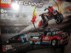 Lego Technic, 42106 Furgonetka i motocykl kaskaderski, klocki