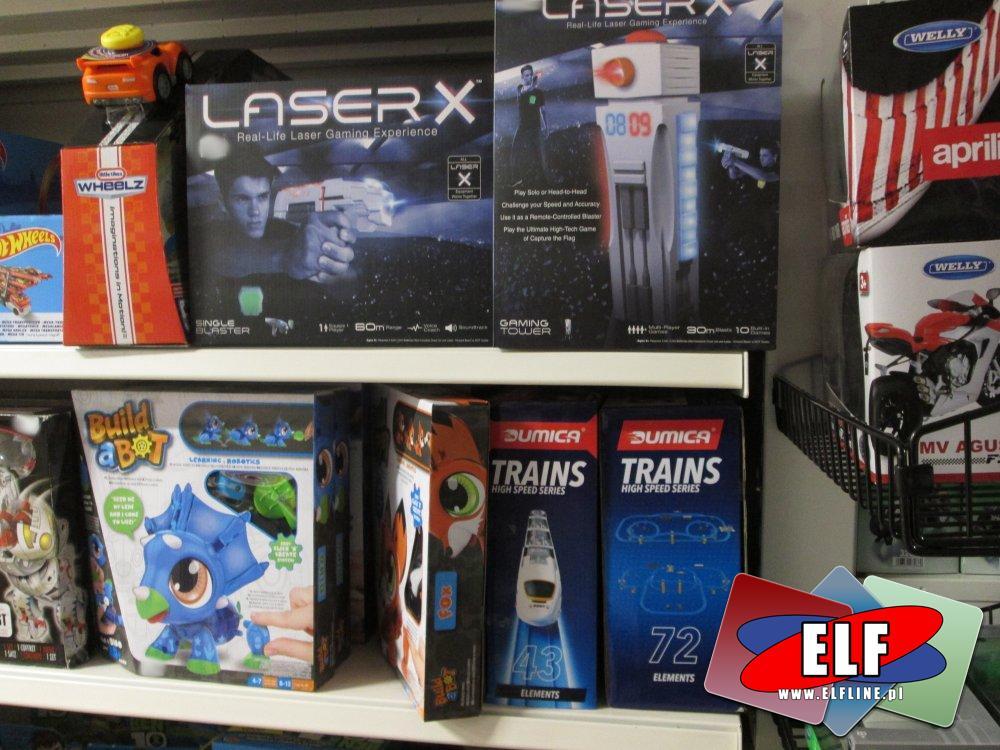 Laster X, Zabawki, zestawy, pistolety, karabiny i inne zabawki