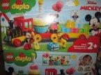 Lego Duplo, 10941 Pociąg Urodzinowy myszek Miki, 10955 Pociąg ze zwierzątkami, klocki