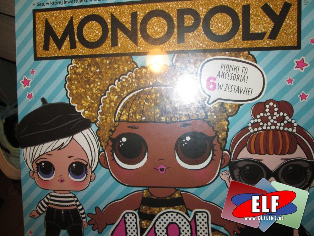 L.O.L. Monopoly, LOL, Gra, Gry, Akcesoria dla lalek LOL, pionki są akcesoriami, LOL Suprise
