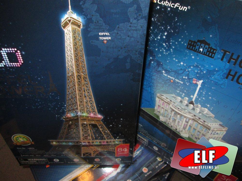 Puzzle 3D Led, Empire State Building, Statua wolności, Krzywa wieża i inne