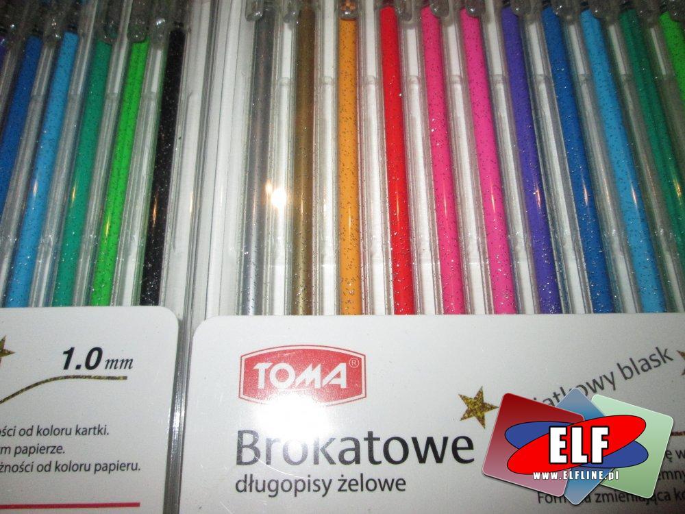 Brokatowe długopisy żelowe, Brokatowy długopis żelowy