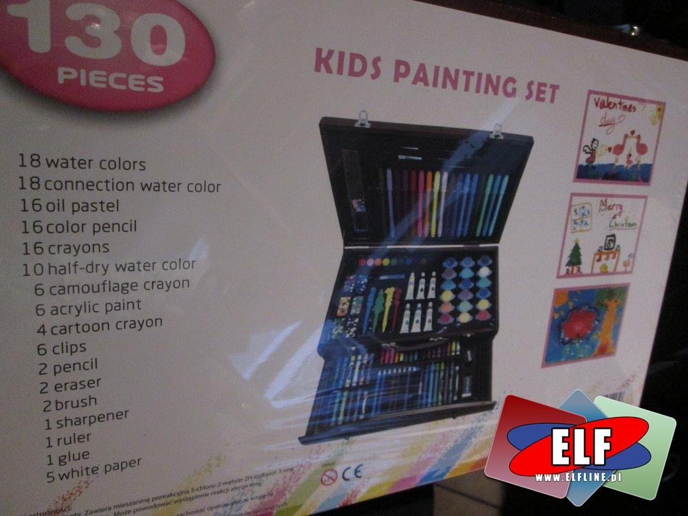 KIDS PAINTING SET, Zestaw artystyczny dla dzieci, zestawy artystyczne dla dzieci, zestaw kreatywny, zestawy kreatywne