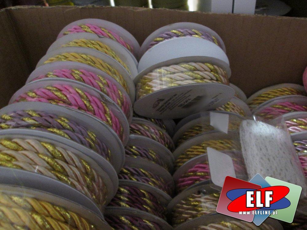 Sznurki ozdobne, różne kolory i efekty, dla artystów i plastyków, sznurek ozdobny