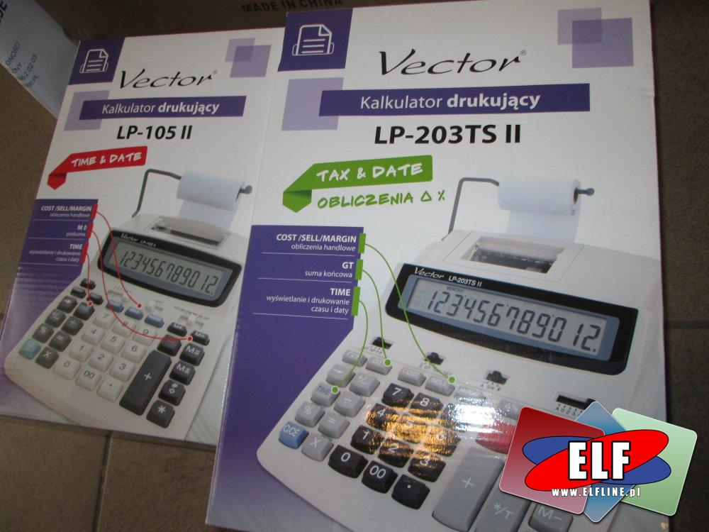 Kalkulator Drukujący LP-203TS II Vector, Kalkulator z drukarenką, kalkulatory