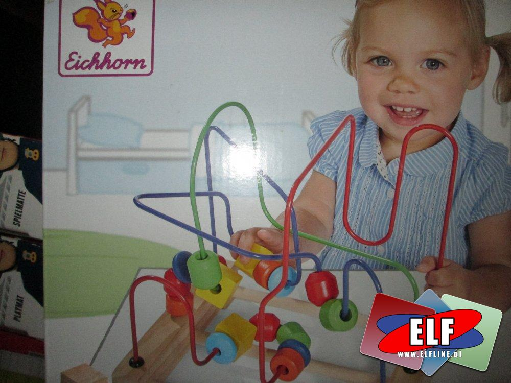 Labiryncik drewniany edukacyjny, zabawki edukacyjne, drewniane, labirynt