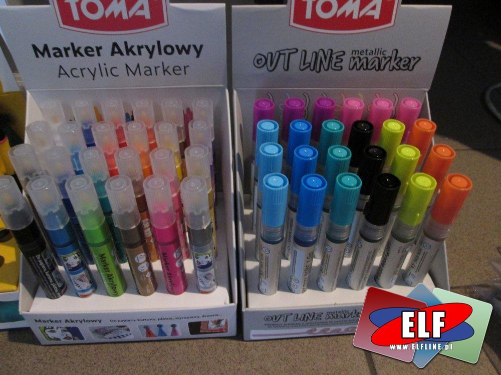 Toma markery akrylowe, Marker Akrylowy, Mazak, mazaki, flamastry acrylic