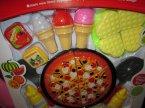 Zabawkowe akcesoria spożywcze, kuchenne, piknikowe, zabawki, zabawa w dom, sklep, piknik, kuchnię