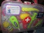 Zestaw lekarski, zestawy lekarskie, zabawkowy, zabawkowe, zabawa w lekarza, medyka, pielęgniarkę