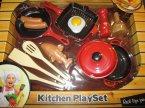 Kitchen PlaySet, Real Life Fun, Naczynia, Kuchnia, Zestaw do zabawy w szefa kuchni, dom, restaurację, bar, zabawka, zabawki