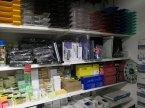 Nożyczki biurowe, Szuflady na dokumenty, kostki papierowe, wąsy do bindownic i inne akcesoria biurowe