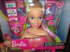 Barbie, Głowa do stylizacji, czesania, Rainbow Sparkle, Tęczowa