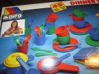 Naczynia zabawkowe plastikowe, Molto, naczynia do zabawy w dom, restaurację, sklep itp.