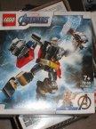 Lego Marvel, 76171 Spiderman Opancerzony mech Milesa Moralesa, 76169 Opancerzony mech Thora, klocki