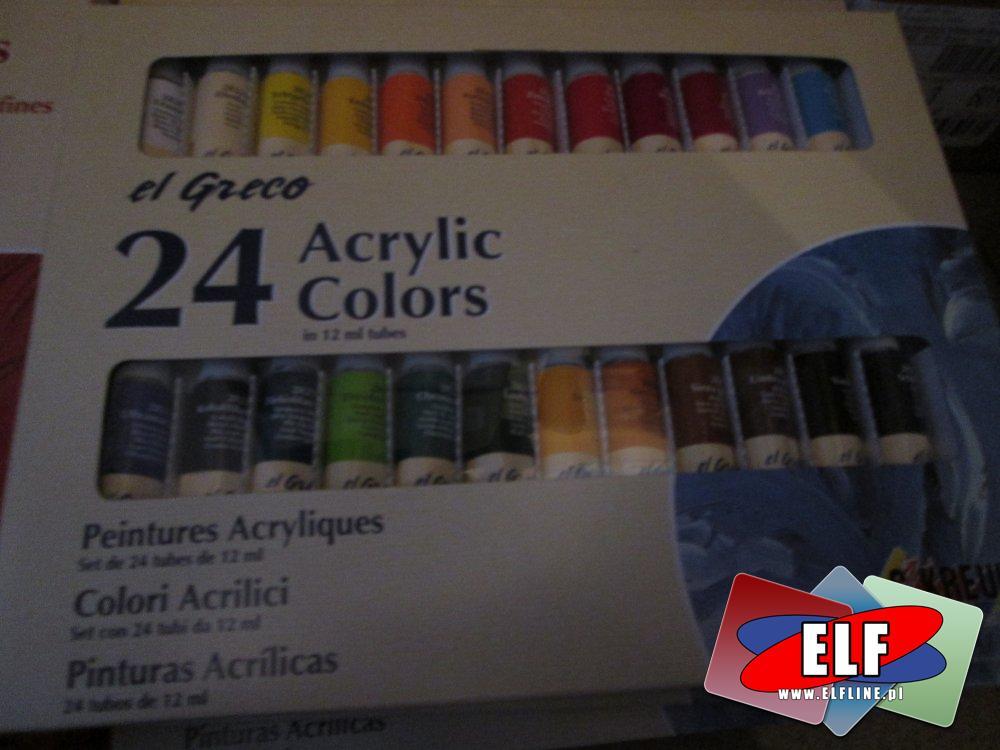 Farby akrylowe 12, 24 kolorów i inne