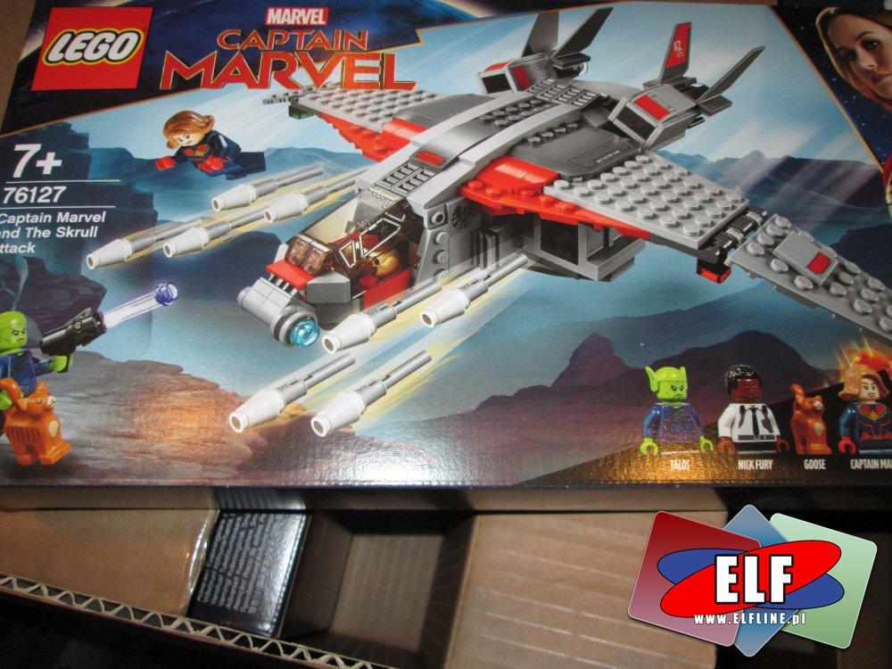 Lego, Avengers 76143, Capitan Marvel 76127, klocki