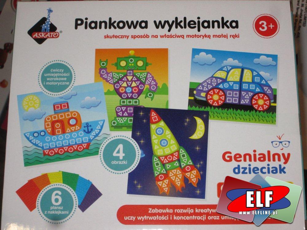 Piankowa wyklejanka, Genialny dzieciak, zabawka kreatywna i edukacyjna, zabawki kreatywne, edukacyjne