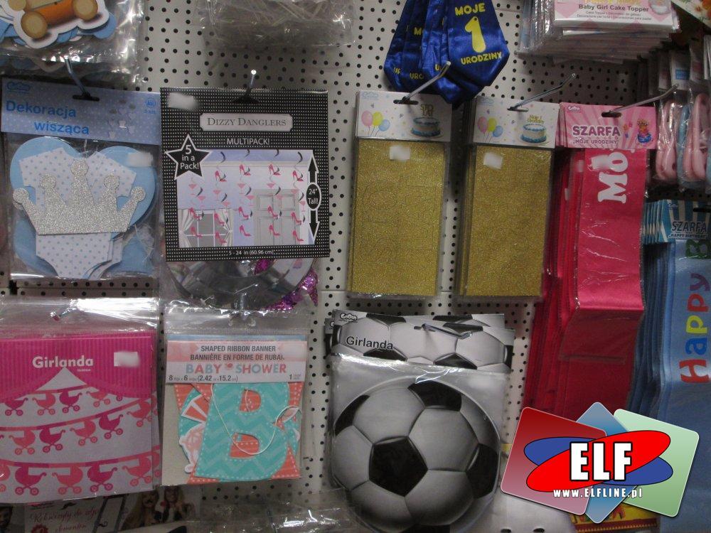 Flagi, Girlandy, Bannery, Balony, Ozdoby, Akcesoria imprezowe, balowe