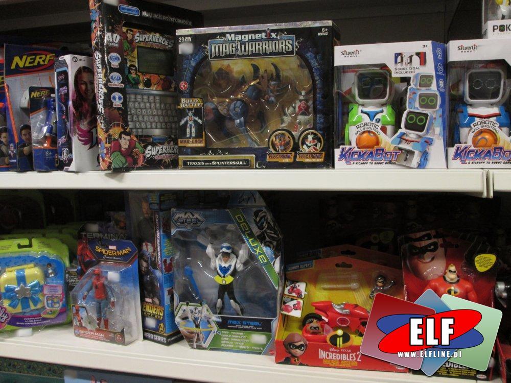 Magnetix MagWarriors, KickaBot, Incredibles 2, Max Steel, MacroBot, Robo Chameleon i inne zabawki interaktywne
