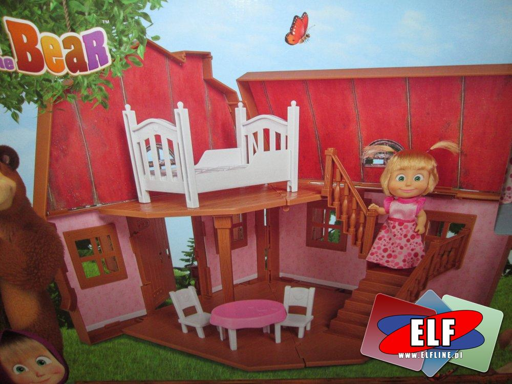 Masha and Bear, Masza i Niedźwiedź, domek w lesie, lalka, lalki