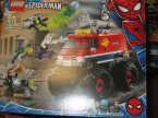 Lego Spiderman, Marvel, 76173 Spider-Man i Upiorny Jeździec kontra Carnage, 76174 Monster truck Spider-Mana kontra Mysterio, klocki