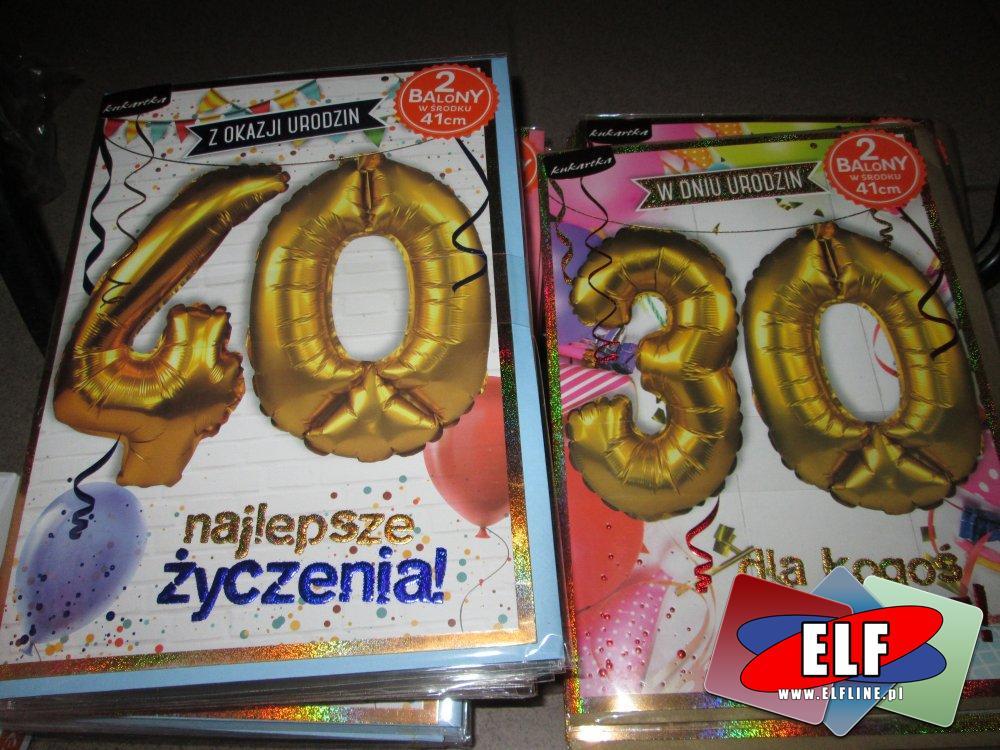 Balon urodzinowy, Balony urodzinowe, 18 lat, 30 lat, 40 lat, 50 lat, 60 lat, balon cyfra, balony cyfry, do nadmuchania helem
